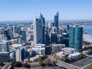 Australië vakantie Perth skyline, Perth